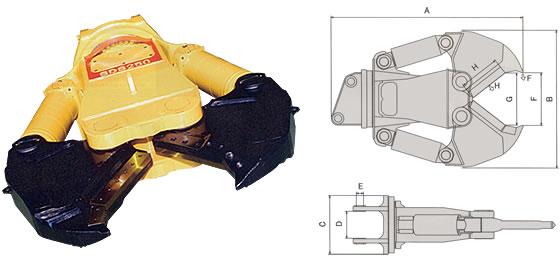1次解体用/鉄骨カッター SDS250 SLC-ARM